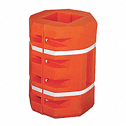 Column Protector, Square, Orange, 42-3/4 In