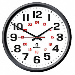 WALL CLOCK 24 HOUR ELECTRIC