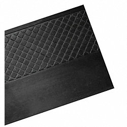 Nose Stair Tread, Black, Rubber, 4 ft. W