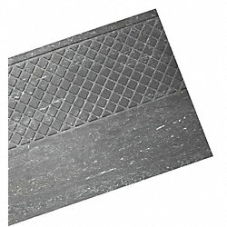 Nose Stair Tread, Slate, Rubber, 4 ft. W