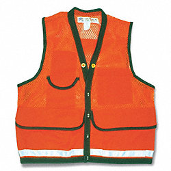 Field Vest, 2XL, Orange, Zipper