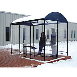 Smoking Shelter, 3-Side, 80 Hx43Wx168 In L