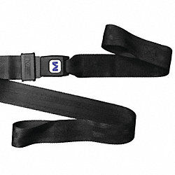 Stretcher Strap , Loop Lock End, 5 ft., Blk