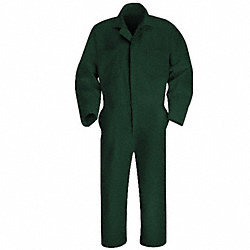 Coverall, Chest 40In., Green