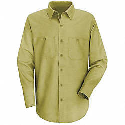 Lng Slv Shirt, Khaki, 65% PET/35% Ctn, XL