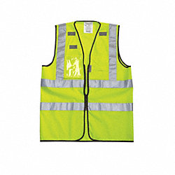 High Visibility Vest, Class 2, XL, Yellow