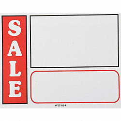 Sign Card, Sale, White, PK25