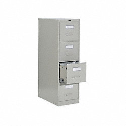 Cabinet, Vertical File, 52Hx18W, Gray