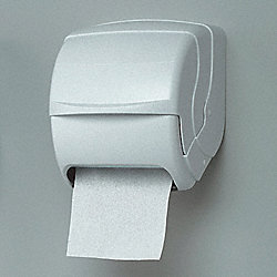 Roll Towel Dispenser, 8-1/2 In Dia, White