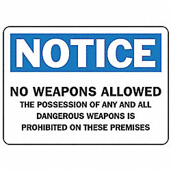 Notice Security Sign, 7 x 10In, AL, ENG