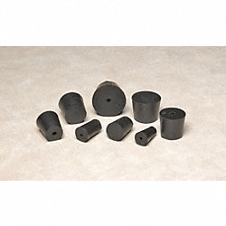 Solid Rubber Stoppers, Sz 10, 25mm, PK7