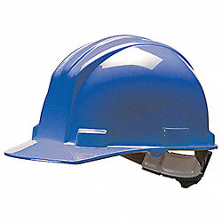 Hard Hat, FrtBrim, Slotted, 4PinLk, Blue