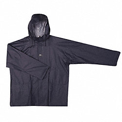 Rain Jacket with Hood, Navy, XL