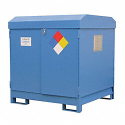 Storage Unit, 4x55 Gal. Cap, Blue