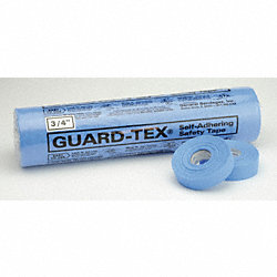Safety Tape, Blue, 3/4 In W, PK 16