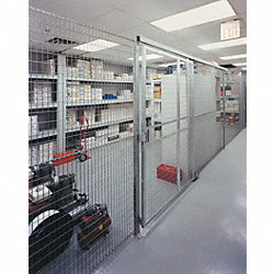 Wire Partition Panel, 4ft.H, 8 ga.