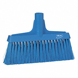 Synthetic Lobby Broom, Blue, 9-1/2 In