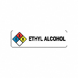 Ethyl Alcohol Labels, Roll, PK 250