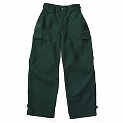 Wildland Fire Pants, Zipper, 2XL, Green