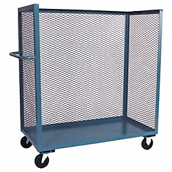 Stock Cart With 3-Sides, 72 In. L, Gray