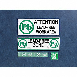 Lead Free Label, 1-3/4 In. H, 1-3/4 In. W