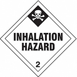 DOT Label, Inhalation Hazard, PK 250