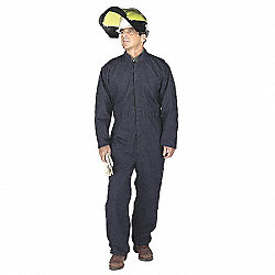 Flame-Resist Coverall Kit, Yllw, 5XL, HRC6