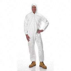 Hooded Tyvek(R), White, Elastic, M