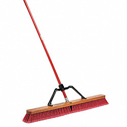 Push Broom, Soft Polymer, Hrdwd Blk