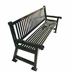 Outdoor Bench, 72 In., Green