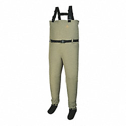 Chest Waders, Plain Toe, L, Tan, PR