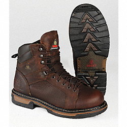 Work Boots, Pln, Mens, 9W, Copper Kettle, 1PR