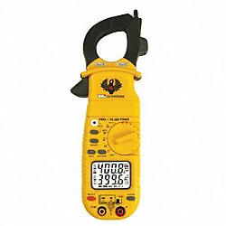 Digital Clamp On Ammeter, 400A, 750V