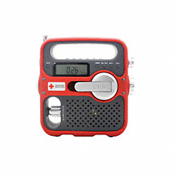 Portable Multipurpose Weather Radio, Red