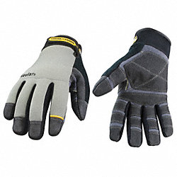 Cut Resistant Gloves, Gray/Black, L, PR