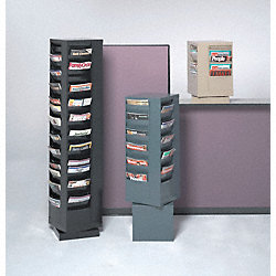 Magazine Display, 88 Compartments, Blk
