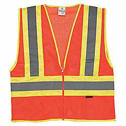 High Visibility Vest, Class 2, 2XL, Orange