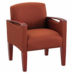 Guest Chair, Natural Finish, Crimson
