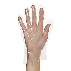 Disp. Gloves, Polyethylene, Clear, PK100