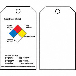 Tag, Polyester, Chemical Hazard, PK25