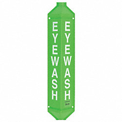 Notice Eyewash Sign, 40 x 9In, WHT/GRN, ENG