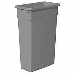 Rectangular Waste Receptacle, 23 G, Gray