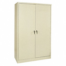Storage Cabinet, HD, 78x48x24 In., Gray