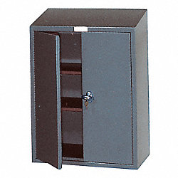 Wall Mount Storage Cabinet, 33x24, Beige