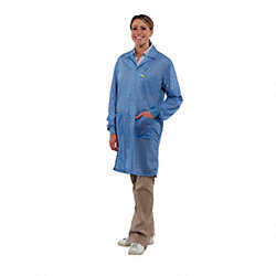 Lab Coat with Cuff, S, Blue