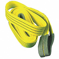 Tow Strap, 2 In x 15 Ft, Yellow