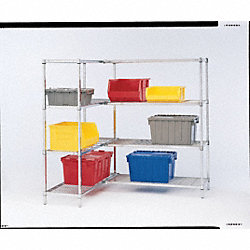 Wire Shelving Unit, Strter, 1000 lb., Steel