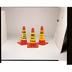 Traffic Cone Collar, YW/Blk, Keep Out, PK6
