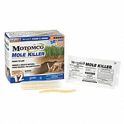 Worm Shaped Mole Bait, PK 12