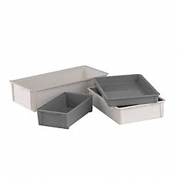 Stacking Box, 3x11x20 In, Gray
